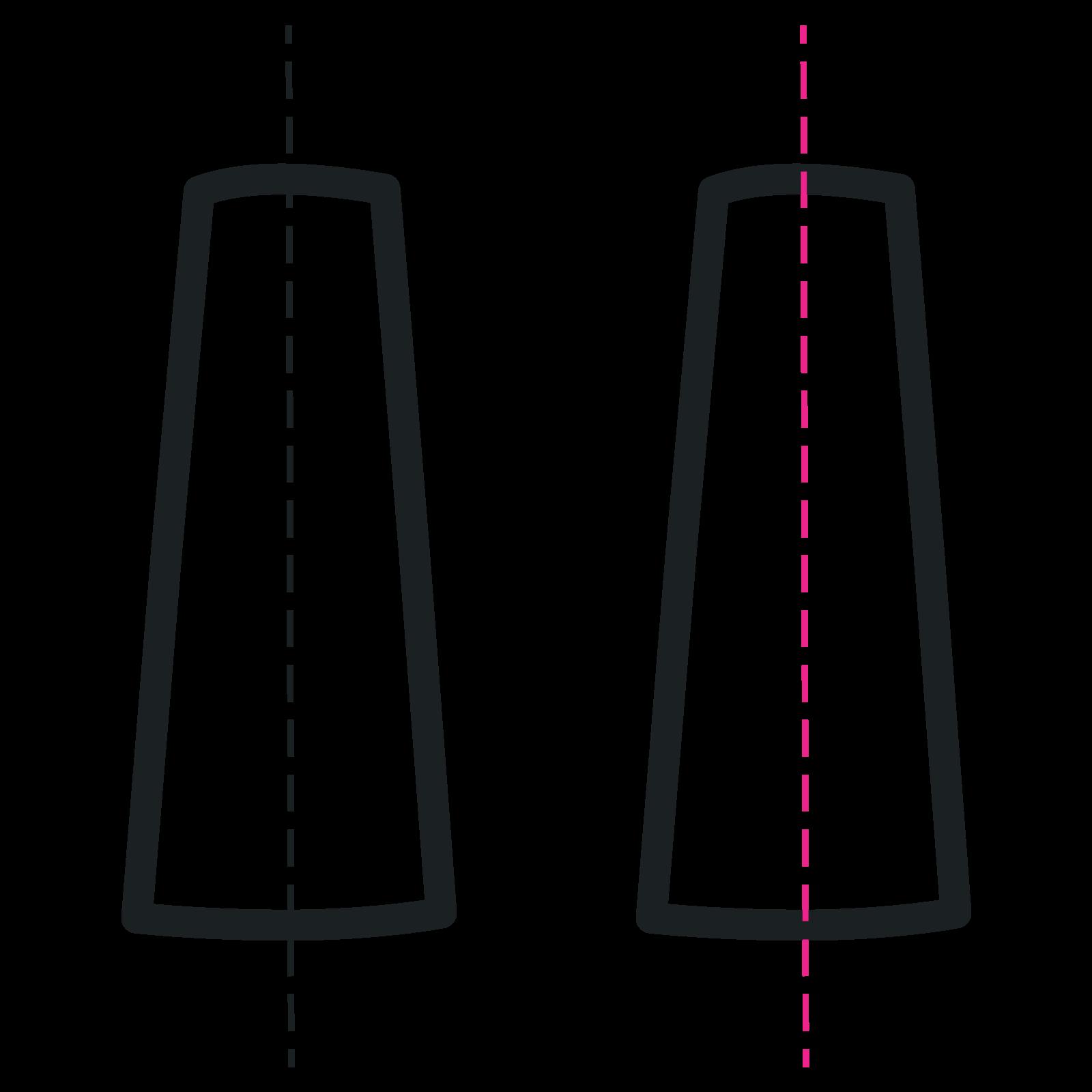 Controllo perpendicolarità in rondini per iniezioni in flebo