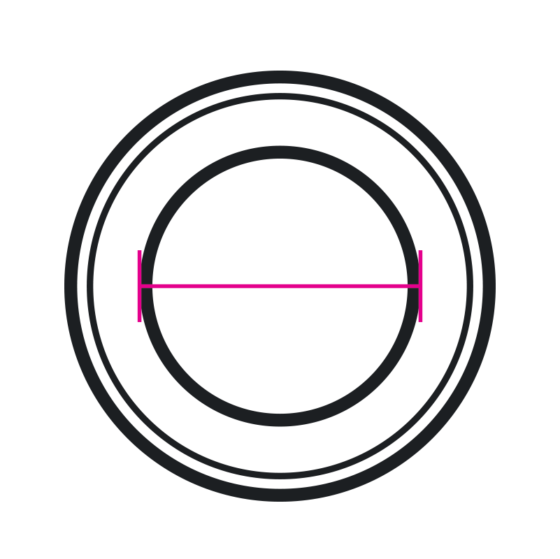 Misurazione diametro interno guarnizione per rubinetterie